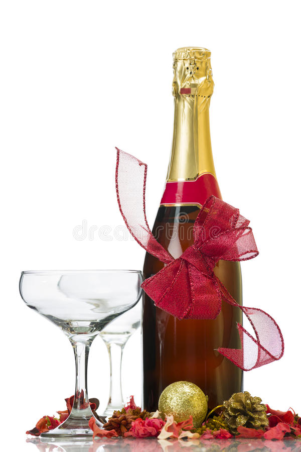 Anniversary champagne royalty free stock photo