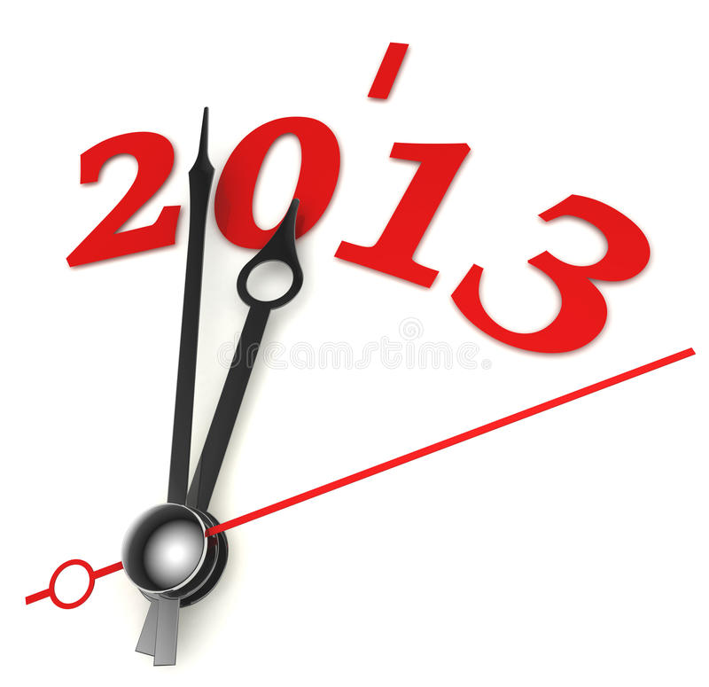 Download New Year 2013 Concept Clock Stock Illustration - Image: 26663288