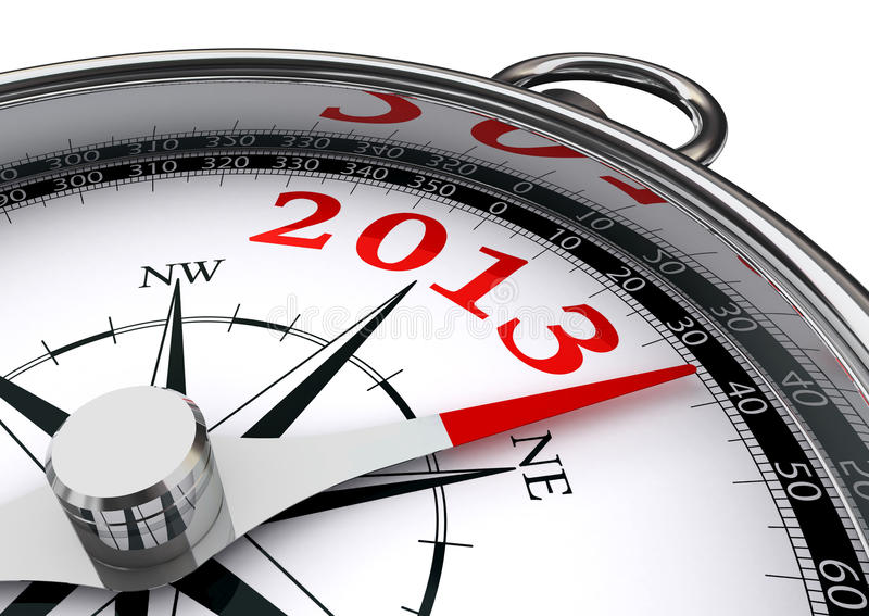 Download New Year 2013 Conceptual Compass Stock Illustration - Illustration: 26838700