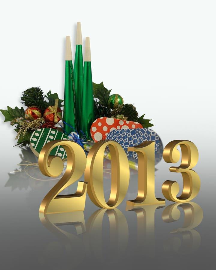 New Year 2013 graphic stock illustration