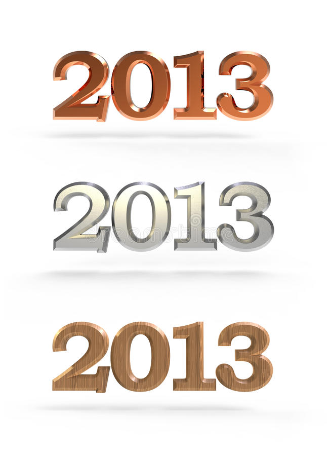New Year 2013 Numbers Stock Photos