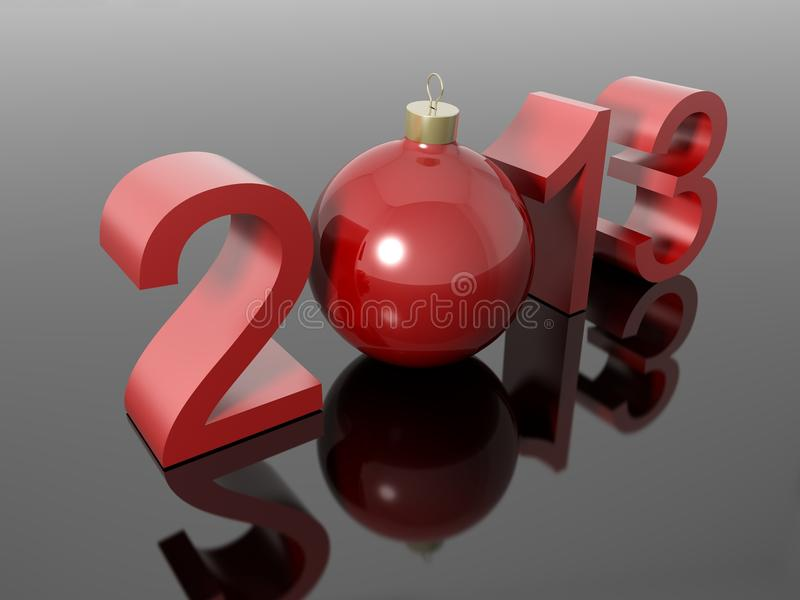 New year 2013 in numbers with a christmas ball royalty free illustration