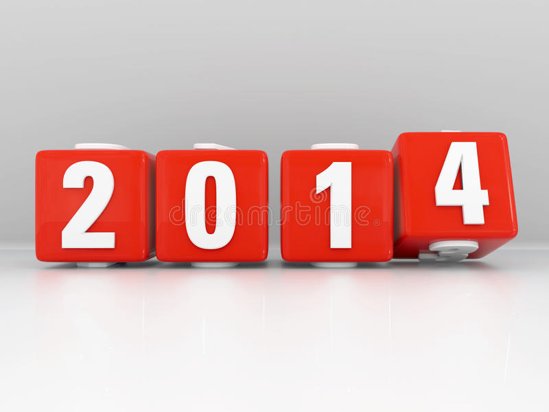 Download New Year 2014 stock illustration. Image of digits, turning - 28555213