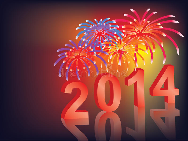 Download New Year 2014 stock vector. Illustration of fireworks - 29462205