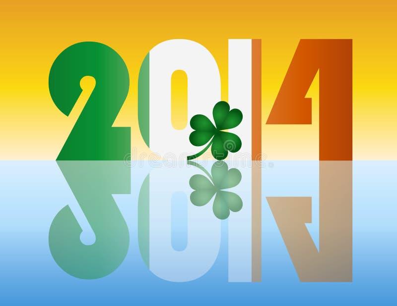 New Year 2014 Ireland Flag Illustration