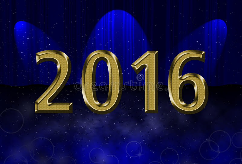 New year 2016 card royalty free stock photo