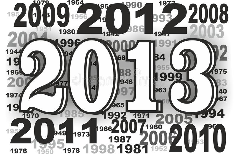 Download New year stock illustration. Image of 2013, grey, year - 25143571