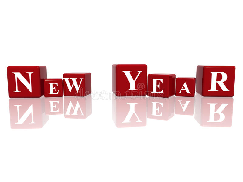 Download New Year in 3d cubes stock illustration. Image of christmas - 16357968