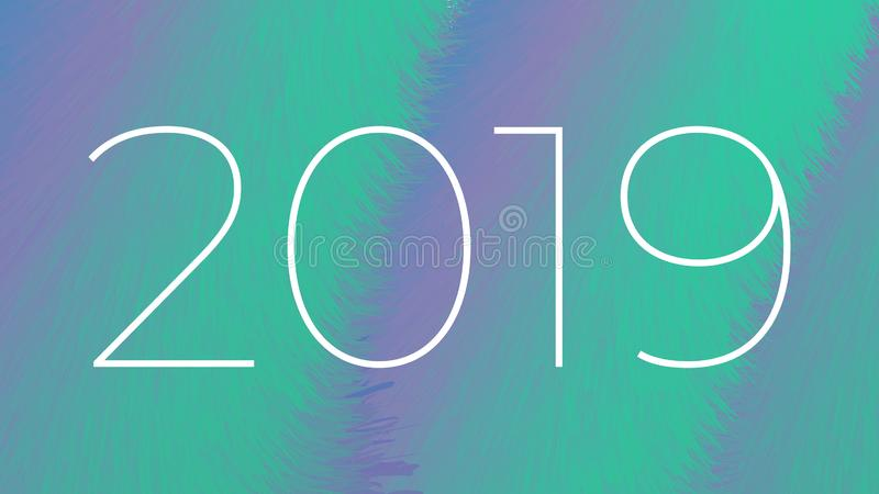 New year 2019 abstract background stock photography