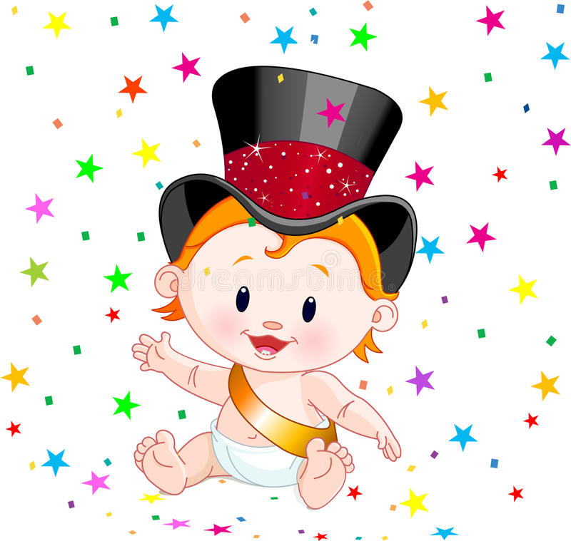 New Year baby stock illustration