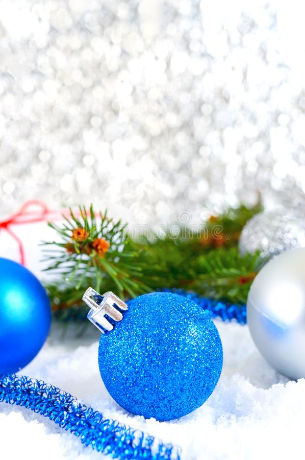 Blue Silver Christmas Background Stock Images Download