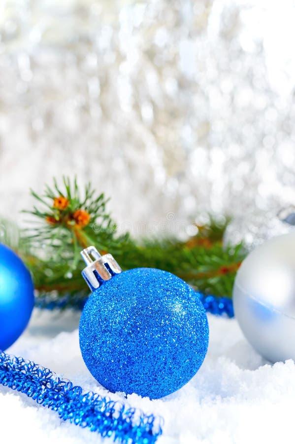 Silver Christmas Balls Snow Stock Photos Download 9 339