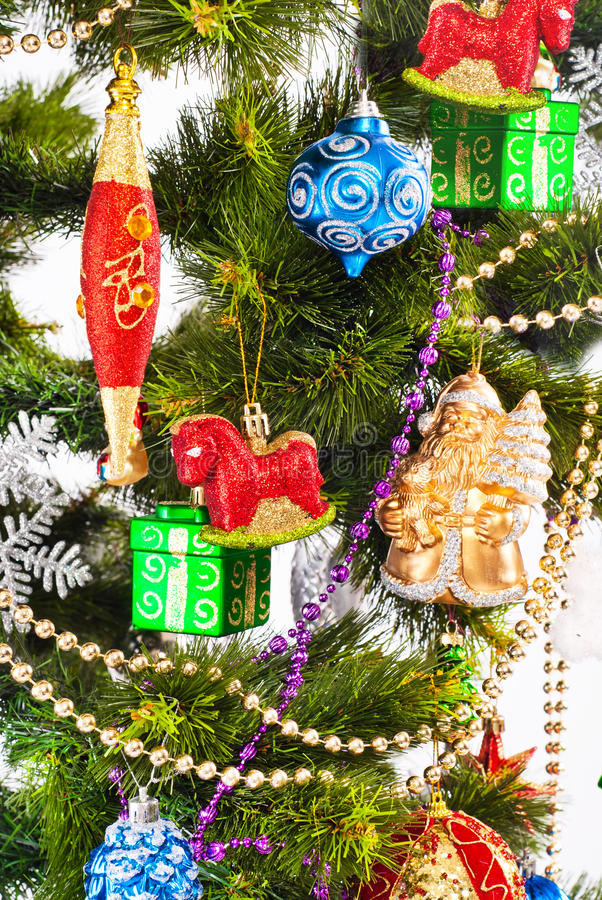 Download New Year Background With Color Decorations Stock Photo - Image: 27797448