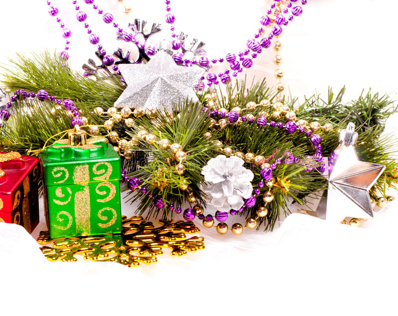 Download New Year Background With Colorful Decorations Stock Image - Image: 27965827