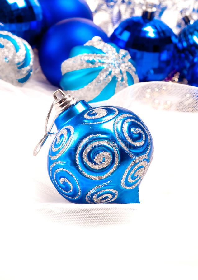 Download New Year Background With Decoration Blue Ball Stock Photo - Image of xmas, shiny: 27965830