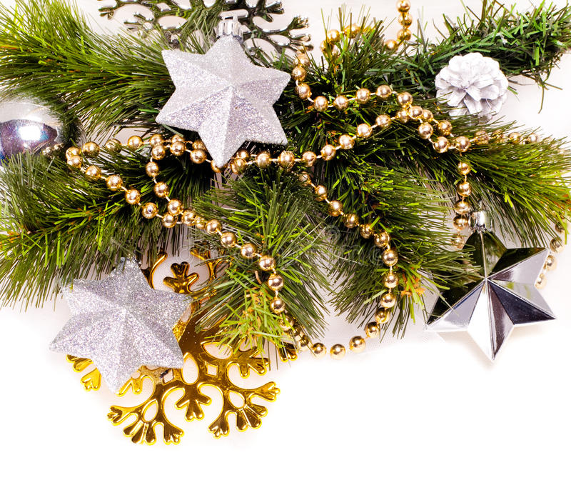 Download New Year Background With Decorations Stock Image - Image: 27965825