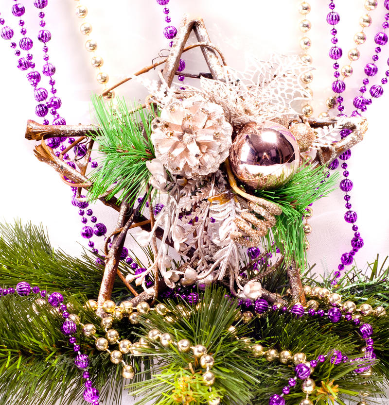 Download New Year Background With Decorations Stock Image - Image: 27965831
