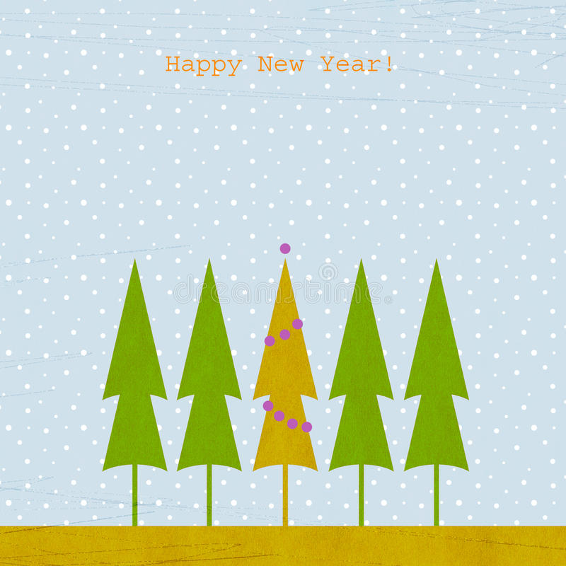 New year background with fir stock illustration