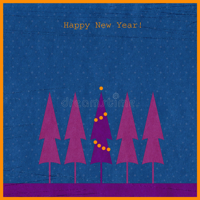New year background with fir vector illustration