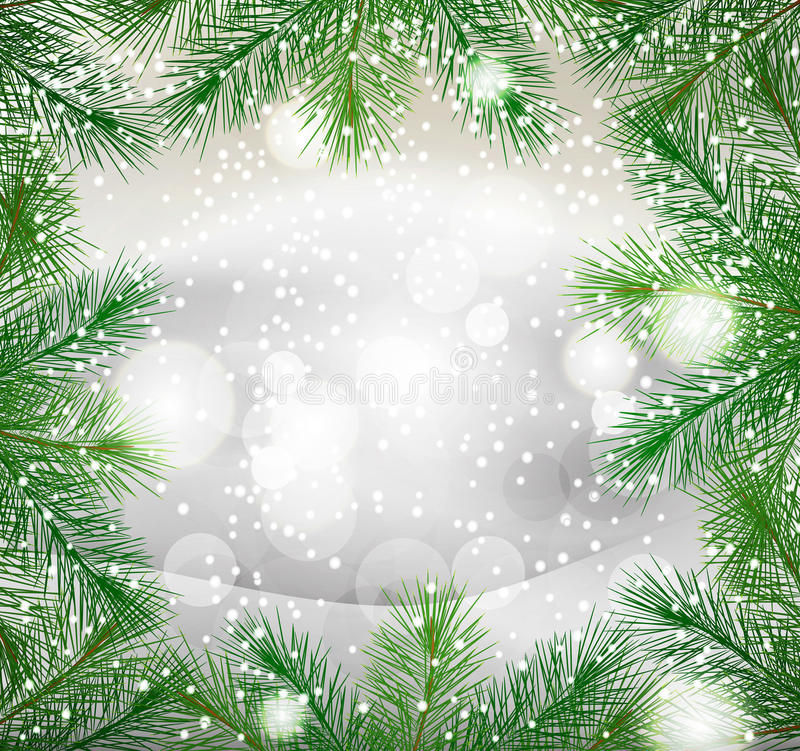 Download New Year Background With Green Fir Branches Royalty Free Stock Photos - Image: 21929138