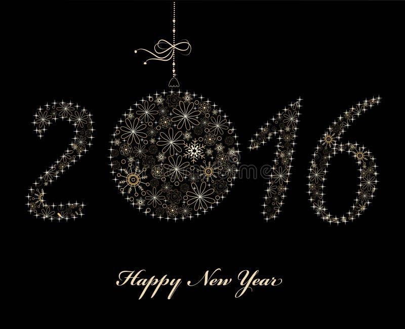 New Year 2016 Background royalty free illustration