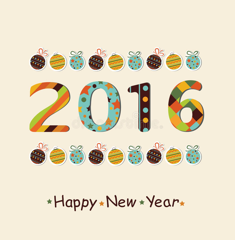 New Year 2016 background vector illustration
