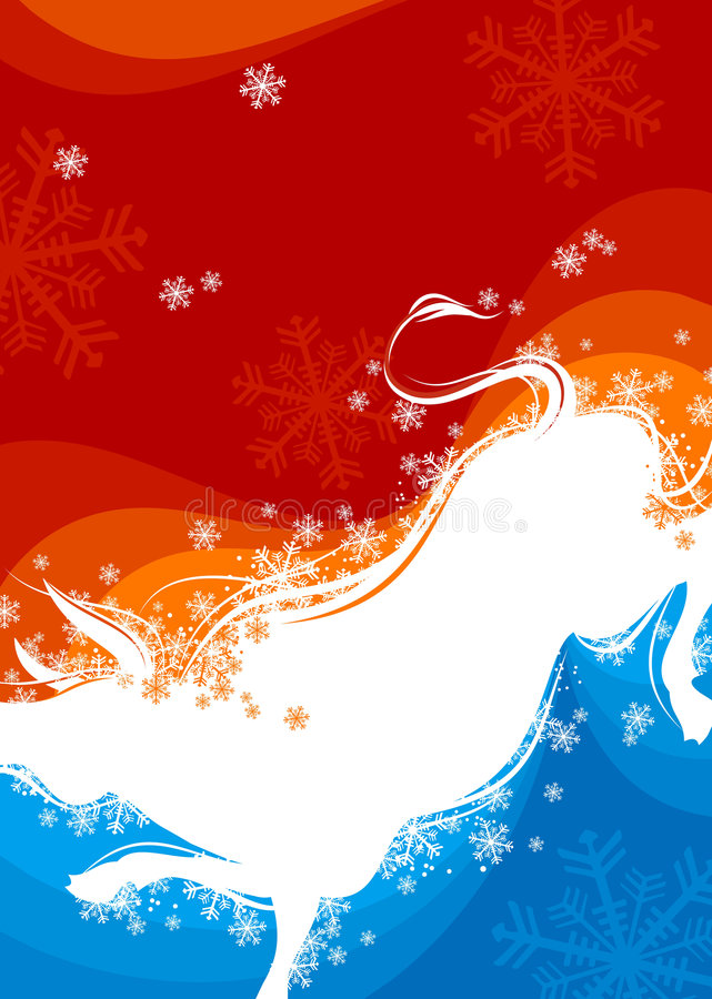 Download New Year background. Ox 2 stock vector. Illustration of bull - 7167393