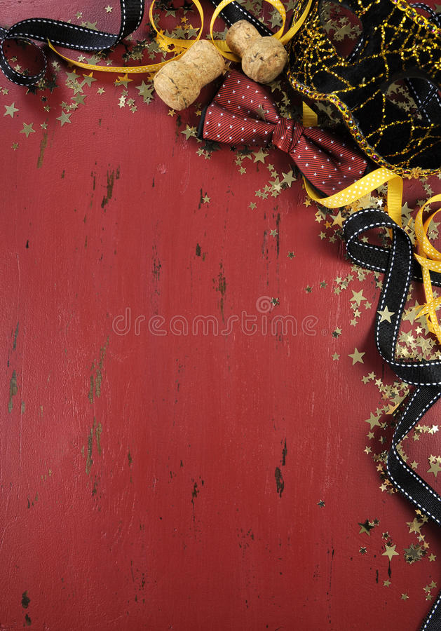 New Year background on red distressed wood stock image