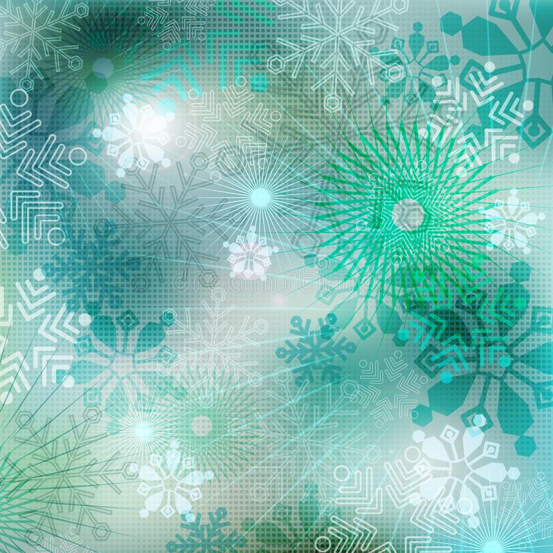 New Year background. Winter background with snowflakes stock photo