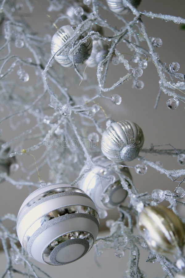 Download New year balls stock photo. Image of white, present, hoarfrost - 7442890
