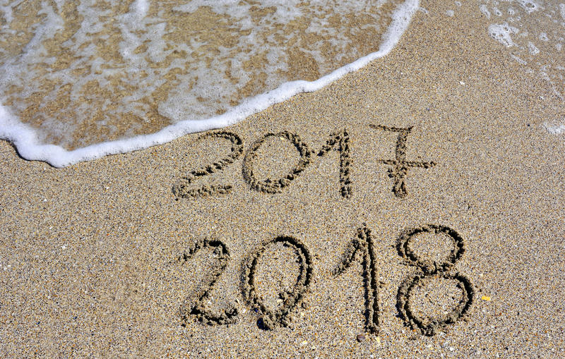 Download New Year 2018 stock image. Image of time, beach, change - 89836331