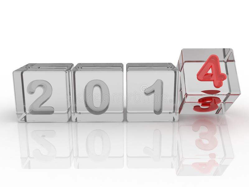 New Year 2014 Box Royalty Free Stock Photo