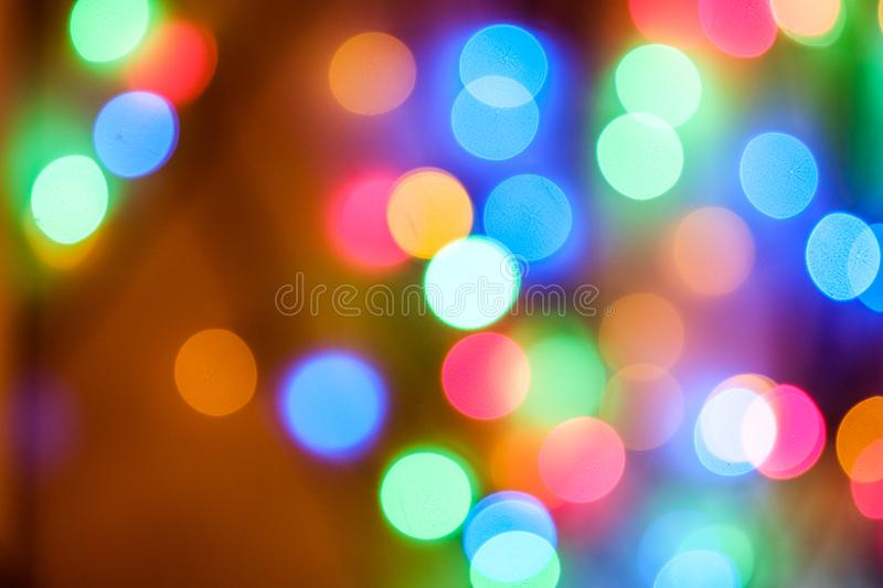 New Year`s lights. New Year - bright and memorable holiday royalty free stock image