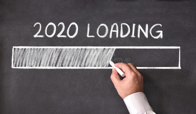New Year Business Concept. 2020 Loading stock images