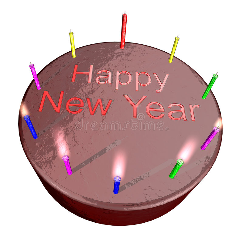 Download New Year Cake Stock Image - Image: 7163711