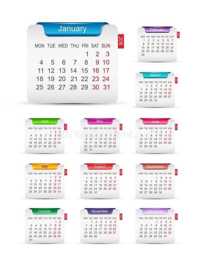 Calendar Design For New Year : New year calendar design stock vector illustration