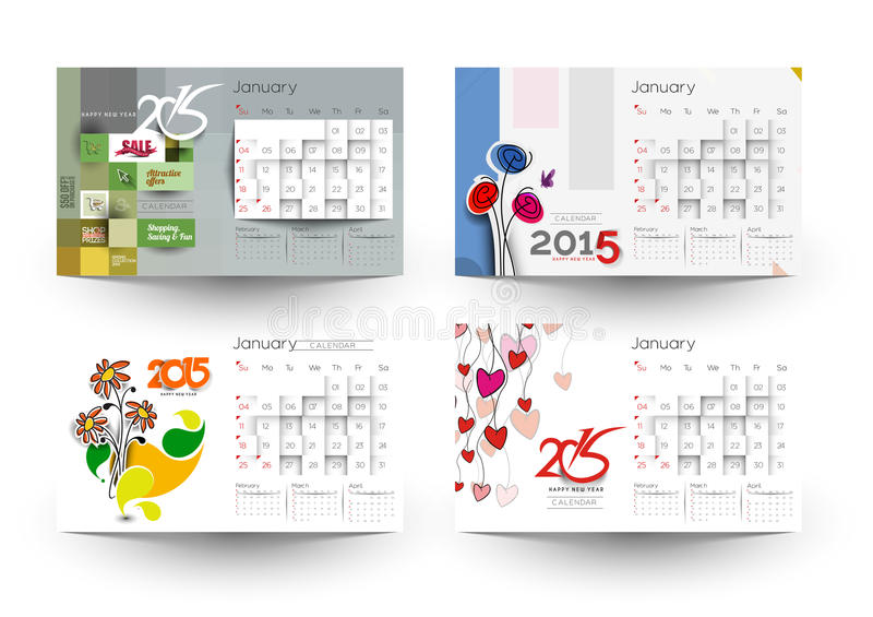 Download New Year 2015 Calendar stock photo. Image of holiday - 47759684