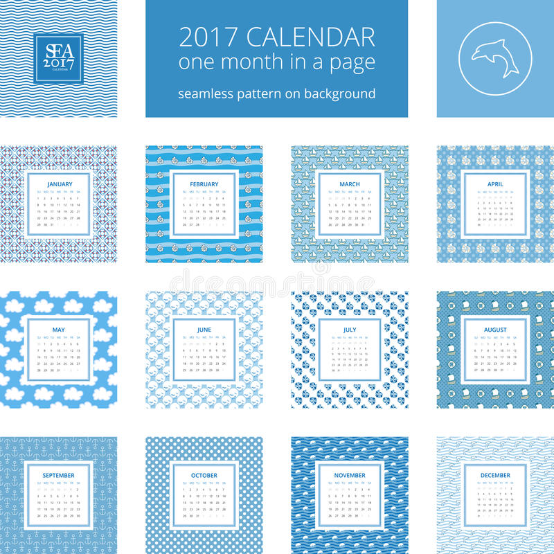 New Year Calendar Template Stock Vector Illustration Of Dolphin
