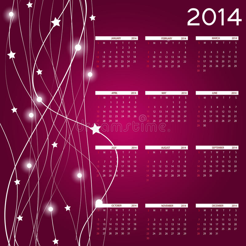 Download 2014 New Year Calendar Vector Illustration Stock Image - Image: 32059863
