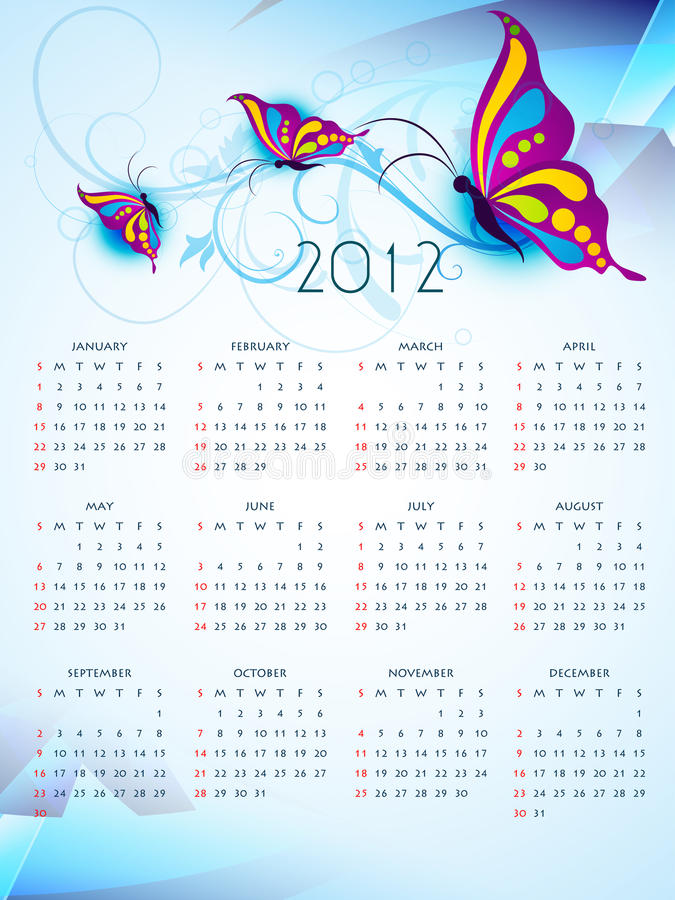 Download New year calender stock vector. Image of month, arch - 22577369