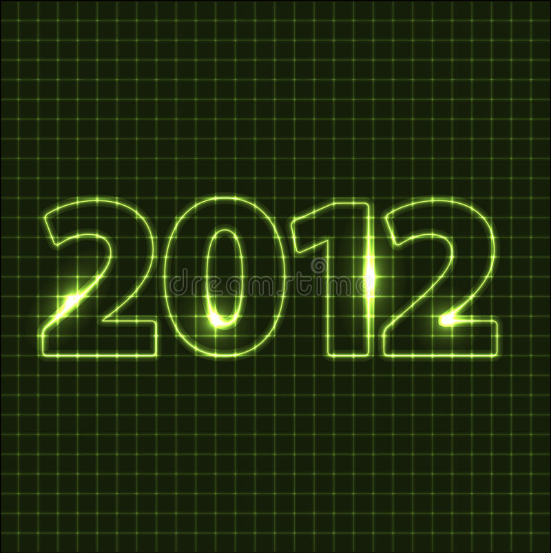 Download New Year card 2012 stock illustration. Illustration of green - 20825553