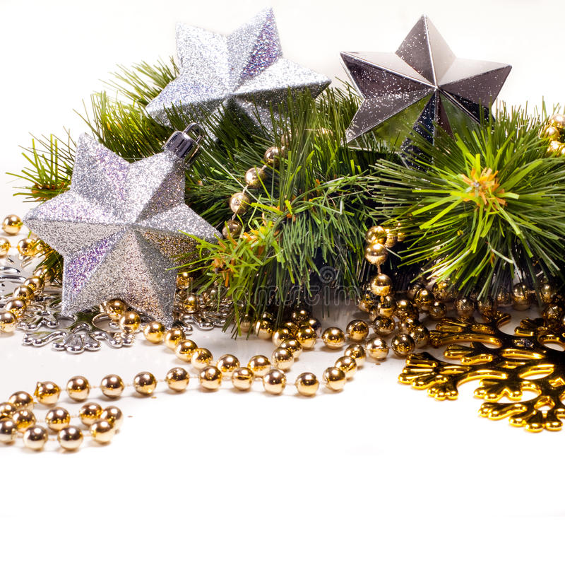 New Year Card With Beautiful Stars Stock Image