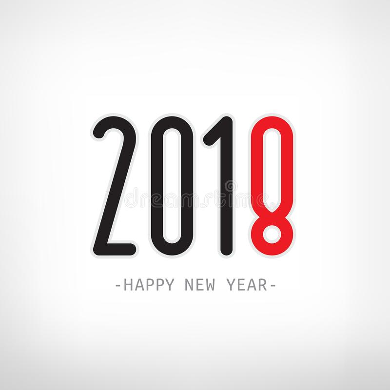 Happy new year 2018. Vector illustration royalty free stock photography