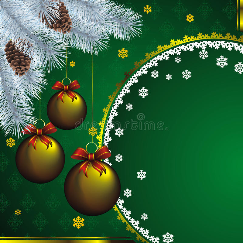 Download New Year Card With Golden Decor Stock Vector - Image: 21868256