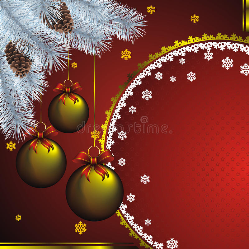 New year card with goldenl decor stock illustration