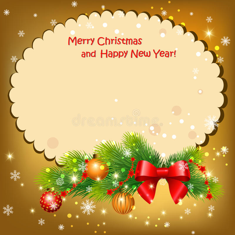 Download New year card stock vector. Image of happy, colorful - 34605988