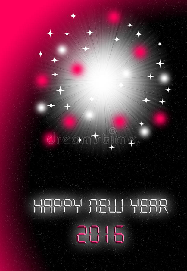 New year card 2016 royalty free stock photos