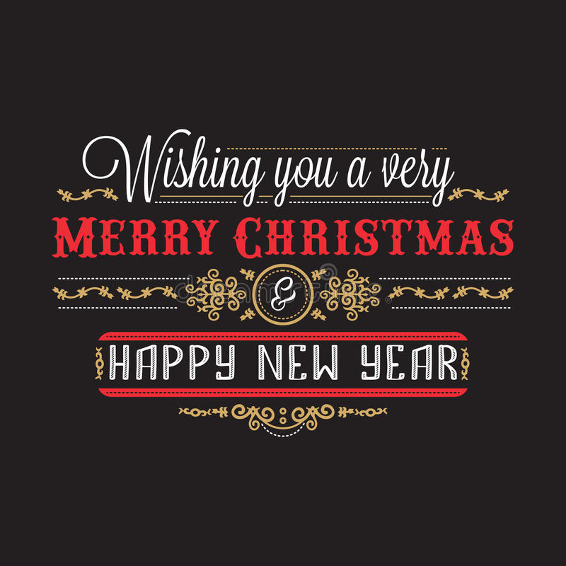 Free New Year Card. Holiday Colorful Decor. Lettering Stock Photos - 96890653