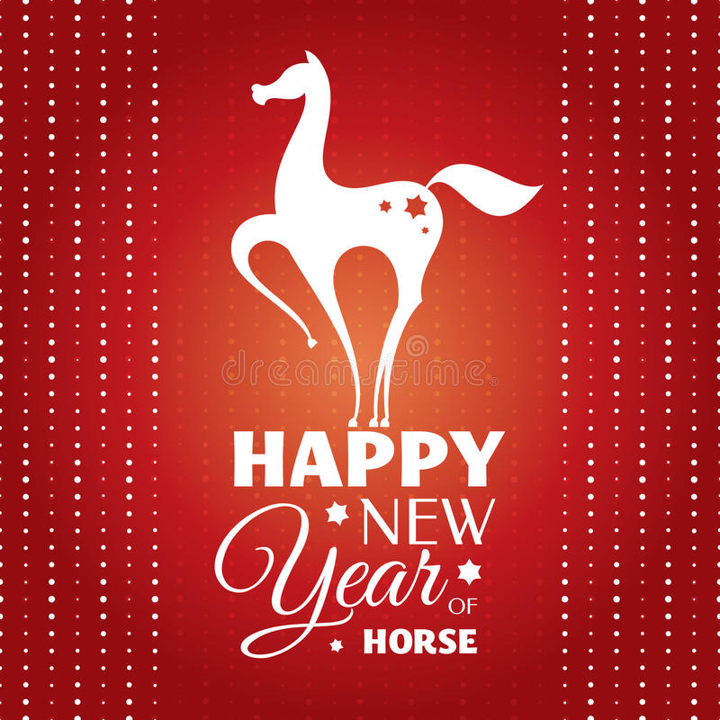 New year card with horse royalty free stock images