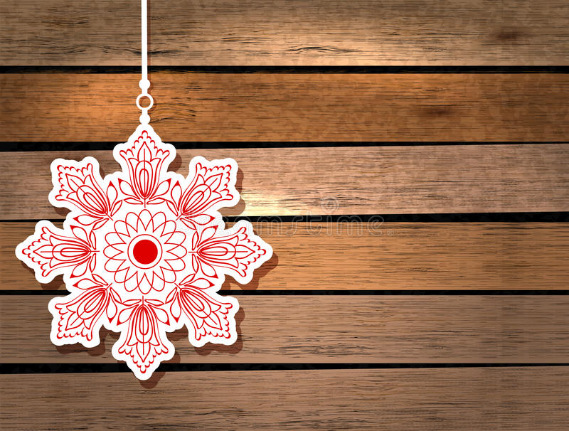 Download New Year Card With Snowflake Stock Photo - Image: 28064010